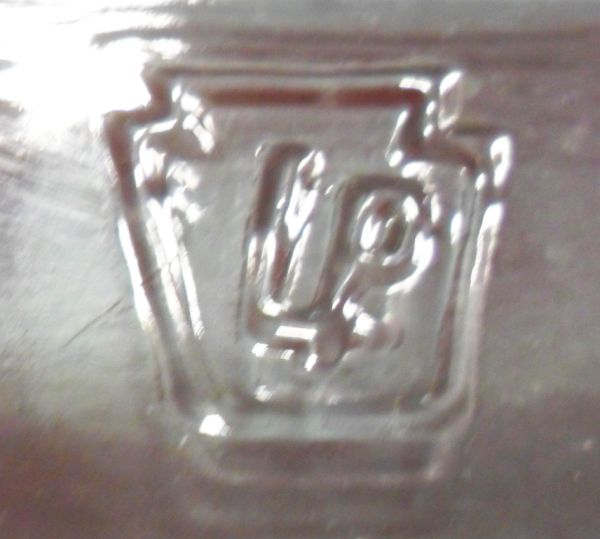 Embossed Glass Makers Stamp Marks