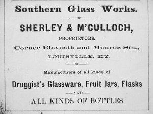 Southern Glass Works Ad - 1880