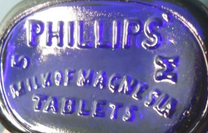Phillips Milk of Magnesia Tablets bottle base