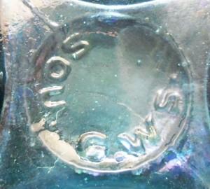 SOU.G.WS. mark on base of larger pickle bottle