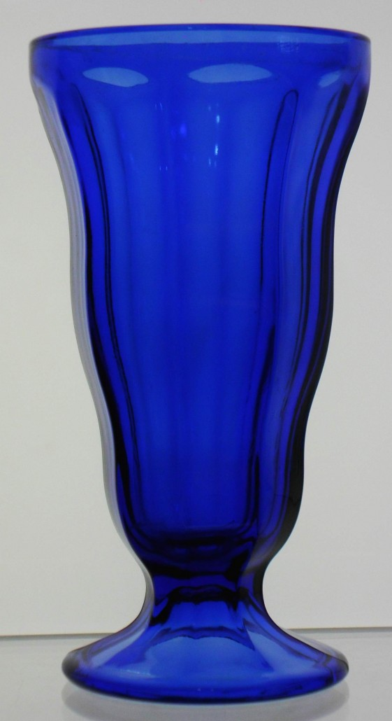 Cobalt blue sundae glass by Anchor Hocking