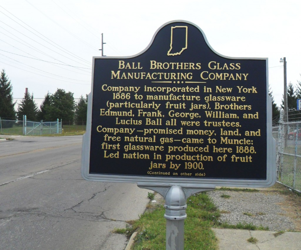 Ball Bros Plaque - Muncie, Indiana - picture taken Sept 4, 2011.