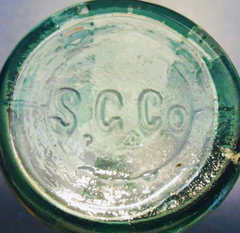 S.G.CO. mark on base of  John J. Smith bottle