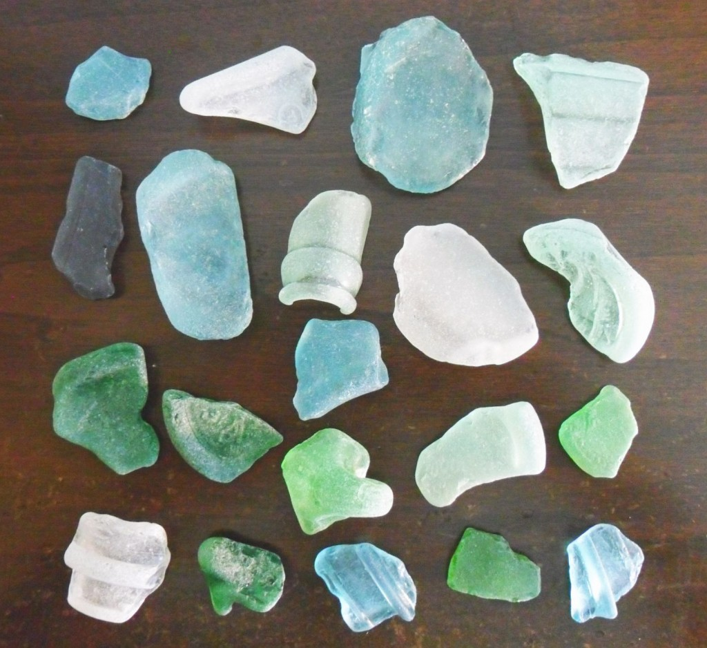 Beach Glass found along the Ohio River