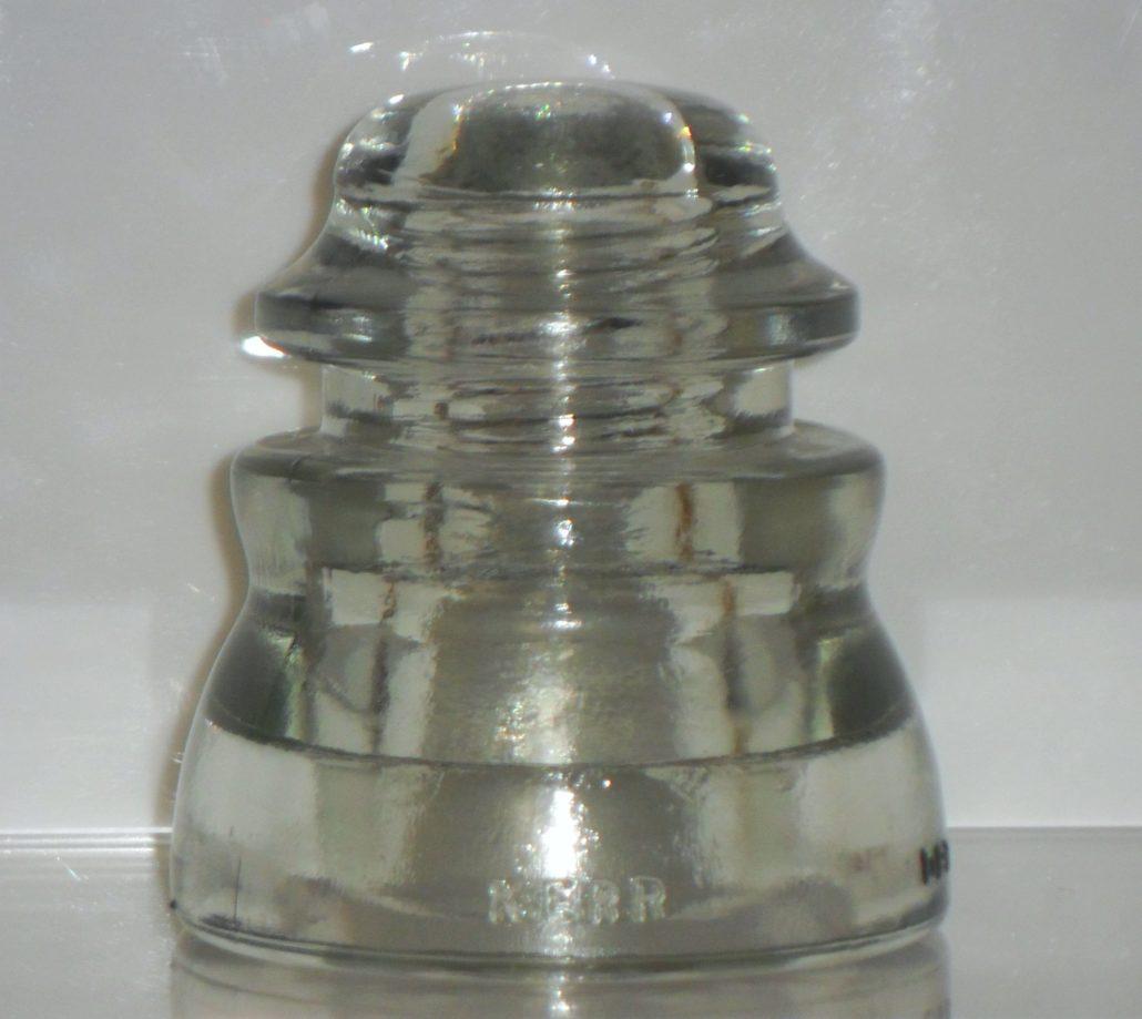 KERR DP1 glass insulator, CD 155 type, date code 1976.