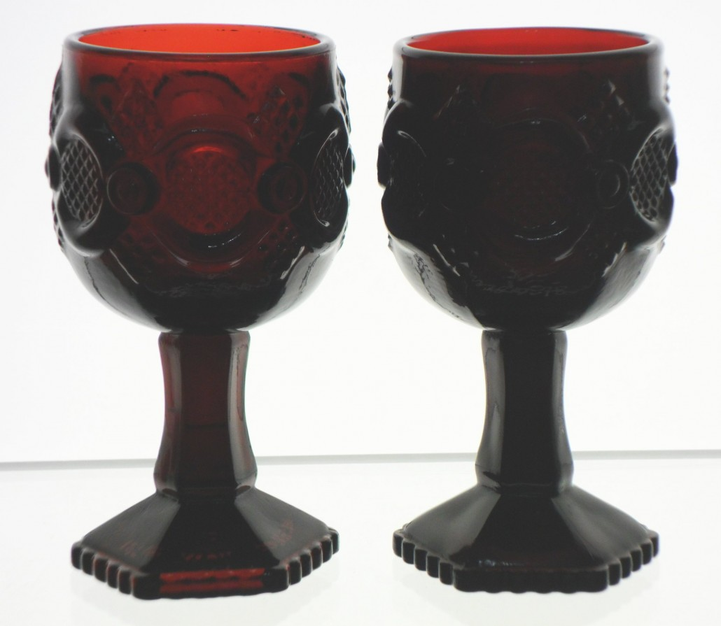 "Avon ""Cape Cod"" pattern goblets."