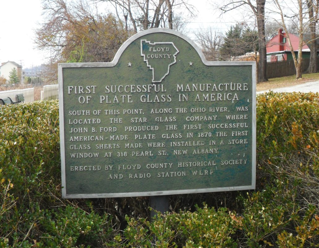 Star Glass Company historical marker, 10th Street in New Albany, Indiana